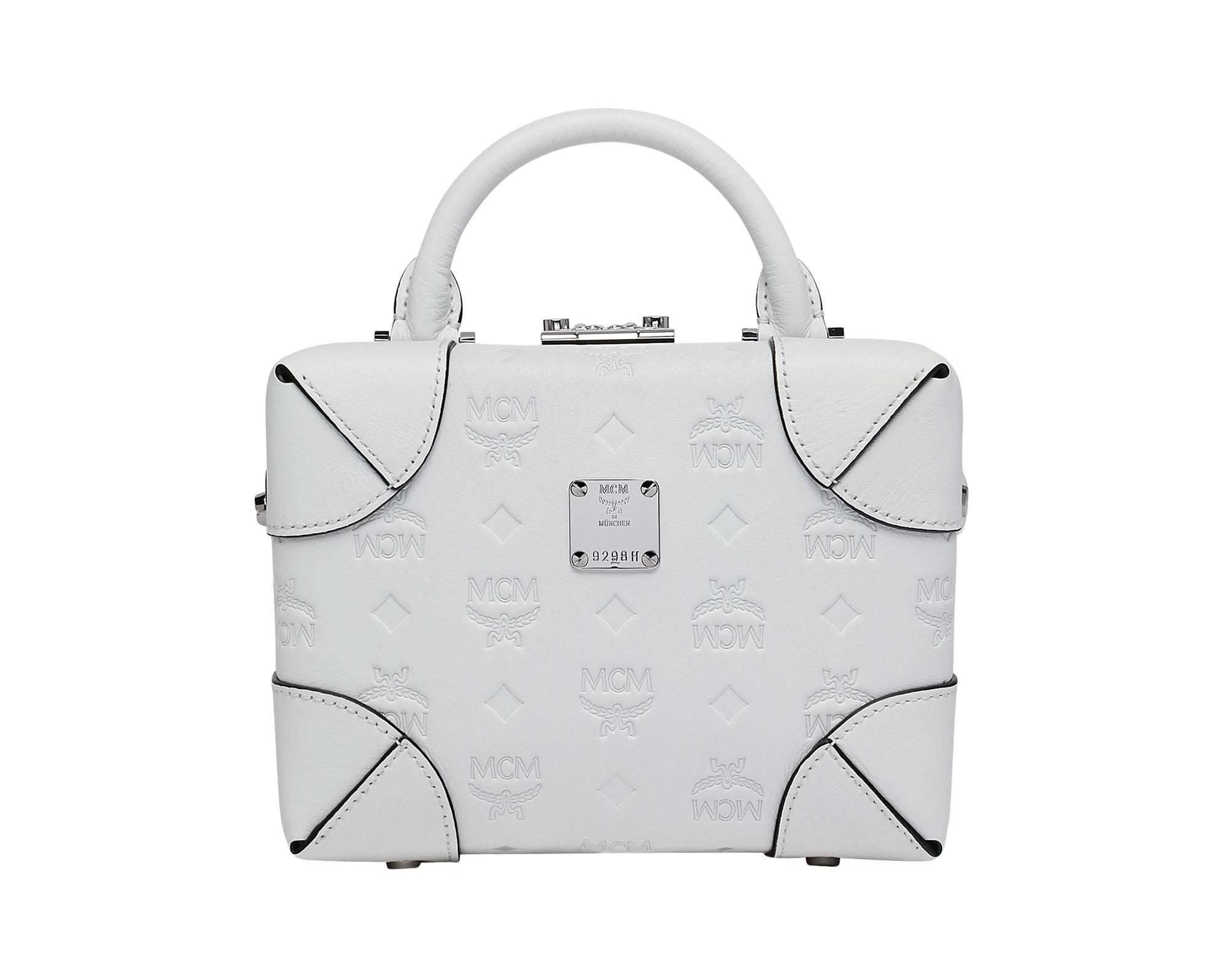 MCM munich bag purse luxury white leather