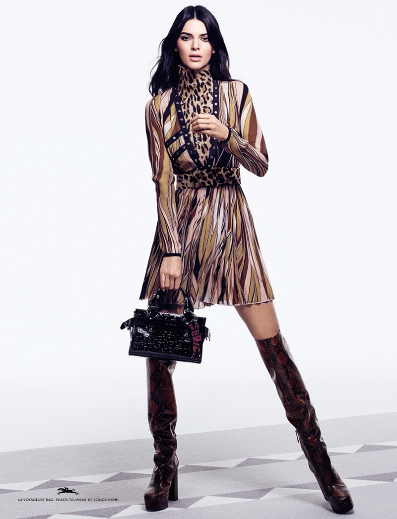 Kendall Jenner Longchamp Studio Photography